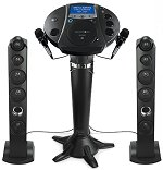 Singing Machine ISM1030BT All-In-One Karaoke Machine with Christmas Pack & 2 Mics